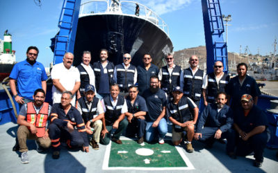 "Tres cruceros, el rescate de un anclaje y 15 mil millas navegadas: el ""Alpha Hèlix"" vuelve a casa"