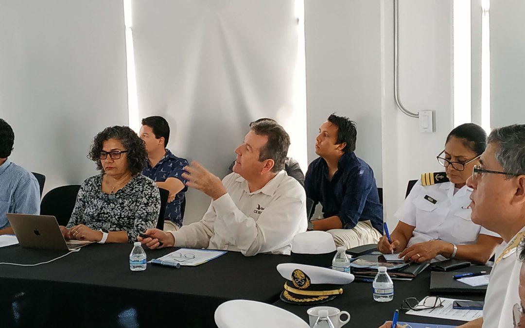 Realizan encuentro de colaboración interinstitucional entre SEMAR, CICESE y CIGoM